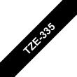 RUBAN TZE335, 12MM BLANC SUR FOND NOIR, LAMINE, 8M