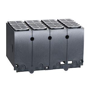 Compact NSX100-250 - 1 cache-borne long pour disjoncteur ou socle -4P