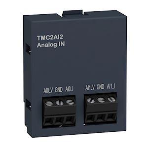 Modicon M221, cartouche 2 entrées analogiques, tension 0-10V, courant 0/4-20mA