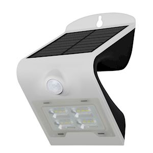 PROJECTEUR LED SOLAIRE 2W BLANC - IP65 - 6000K-3000K - 260 lm