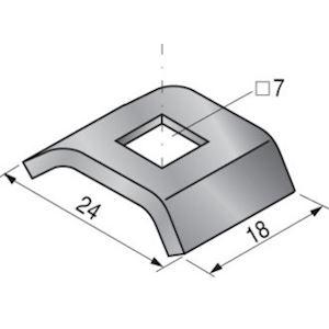 Contre éclisse U30 pour chemin de câbles fil, EZ. A utiliser avec la petite écli