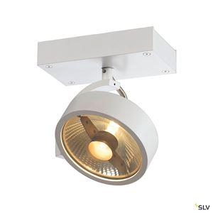 KALU, 1 spot, QPAR111 plafonnier, blanc mat, ES111, max. 75W