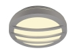 DRAGAN GRID applique, ronde, gris argent, G24, 2x26W