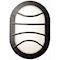 Hublot Chartres ovale jupe a grille noir E27 / 75W