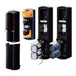 Faible consommation, alimentation 12/24Vdc avec PCU-5 ou par pile CR123