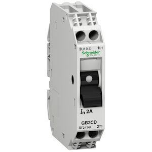 TeSys GB2-CD - disjoncteur pour circuit de contrôle - 2A - 1P+N - 1d