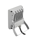 TWISTER 2 - Proj. Ext. IP65 IK08, gris, angle 110DEG, LED intég. 12W 4000K 1300l