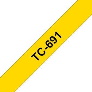 Ruban TC-691 pour étiqueteuse  Noir sur Jaune  9 mm