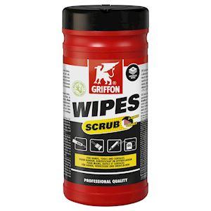 WIPES Lingettes nettoyantes pour les mains et les outils, avec scrub