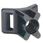 Embase à visser - protégé UV - fixable par cheville réf. 031957 - noir