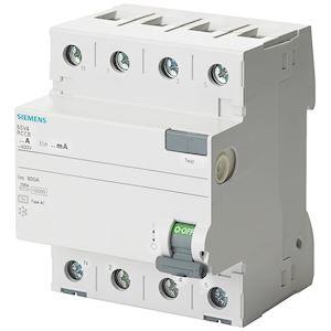Inter.diff 4P, type AC, In: 80 A, 300 mA, Un AC: 400 V, Neutre à gauche