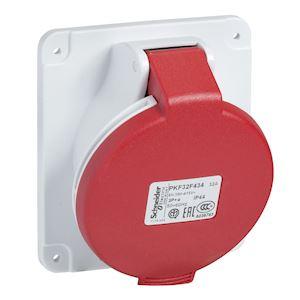 PratiKa - socle prise industrielle - 32A - IP44 - 380 - 5P - vis