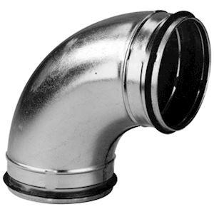 Coude 45DEG mâle/mâle acier galvanisé à joints, classe C, D 315 mm