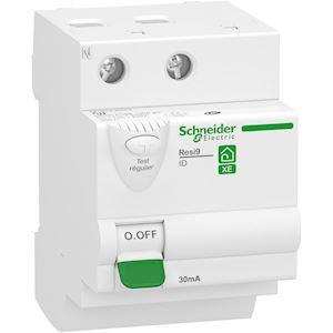 Resi9 XE - interrupteur différentiel - 2P - 63A - 30mA - Type AC - 3modul - embr