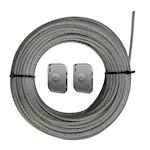Câble Tendu Intérieur horizontal CTI6 L=40 m.  Charge maxi 100 kg