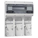 Embase P17 - recevant plastron 280x125 - rail 18 modules - 9 socles 16A