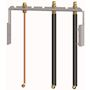 Kit raccordement robinets eau/gaz prémontés pourchauffage seul AGC, EGC