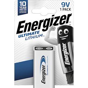 ENERGIZER PILE ULT. LITHIUM  9V x1. La pile idéale pour un usage intense et pour