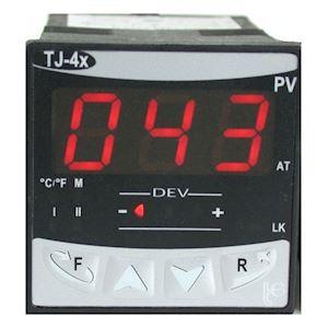 TJ 43 : thermostat électronique 1 seuil + alarme avec afficheur.  Alim 230V.