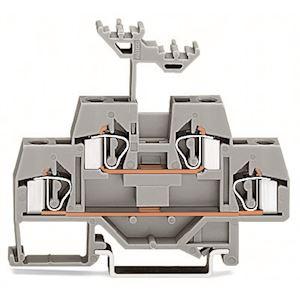 Borne à 2 étages / 4 mm² / CFMC / Gris