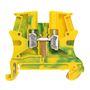BLOC A VIS POUR CONDUCT.DE PROTECTION 1 JONCTION 4MM2(PAS 6MM)PIED METAL