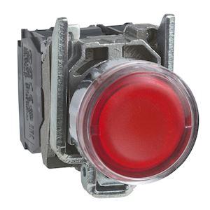 Harmony XB4 - poussoir lumineux LED - 1F+1O - rouge - D=22 - 24VACDC