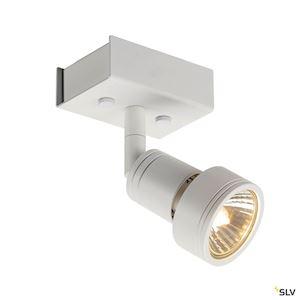 PURI 1 plafonnier, blanc mat, GU10, max. 50W, anneau déco inclus