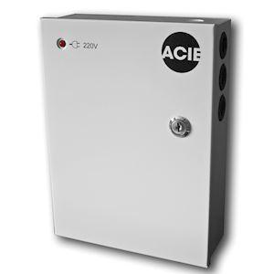 Coffret alimentation régulé 220V 13,8V 1,5A sous boîtier métallique, batterie 7A