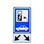 Panneau de signalisation recharge véhicule électrique, avec flèches