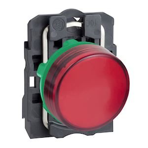 Harmony XB5 - voyant - avec LED - 24VACDC - D=22 - cabochon lisse rouge