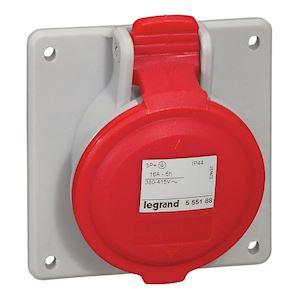 SOCLE TABLEAU 16A 3P+T 380/415V IP44
