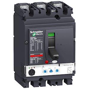 Compact NSX160F - disjoncteur + déclencheur élect. micrologic 2.2 - 160A - 3P3d