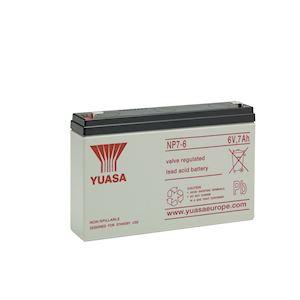 Batterie stationnaire étanche au plomb NP 7Ah 6V ' bac standard