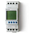 Horloge astro hebdomadaire digitale 1 inverseur 16A 230V avec réserve de marche