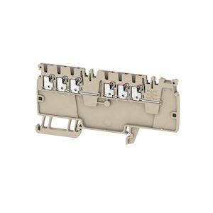 Blocs de jonction de distribution, PUSH IN, 1,5 mm², 250 V, 16,5 A, Beige foncé