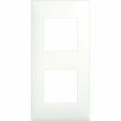 Plaque Espace Evolution - 2 postes - Blanc