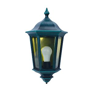 LIZZIO - Applique Mur Ext. IP44 IK08, vert, E27 100W max., lampe non incl.