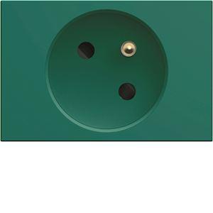 Prise de courant speciale goulotte gallery 2P+T 16A vert