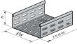 Dalle perforée PS à bords soyés, hauteur 51, largeur 100, épaisseur 0.75, SZ.