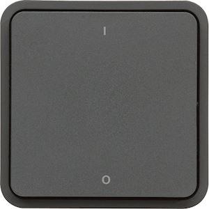 cubyko Interrupteur bipolaire marqué 0/1 associable gris IP55