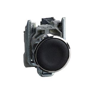 Harmony XB4 - bouton poussoir - affleurant - 1F - D=22 - noir