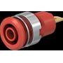 Douille 4 mm de sécurité rouge