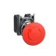 Harmony XB4 - bouton arrêt urgence - pousser tourner - 1F+1O - rouge - D=40