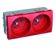 Altira - bloc prises doubles 45DEG - 2P+T rouge - détrompage visuel