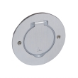 Platine ronde simple poste à équiper - IP 44 / IK 08 - Inox brossé