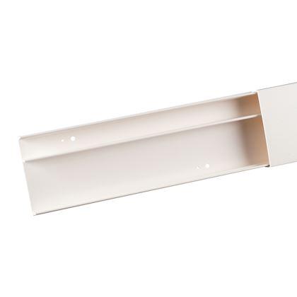 Moulure blanche 2 compartiments 22 x 12 mm Avec cloison Keva Planet wattohm