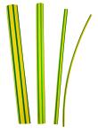 GTI 39 Gaine à paroi mince sans adhésif-vert/jaune-rétreint 3/1