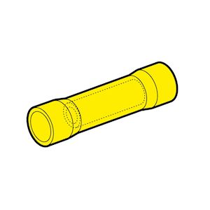 Manchons préisolés bout à bout jaune (4 à 6 mm²)