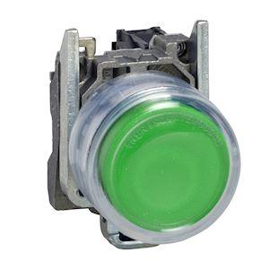 Harmony XB4 - bouton poussoir à impulsion - D=22 - capuchonné - vert - 1F - vis