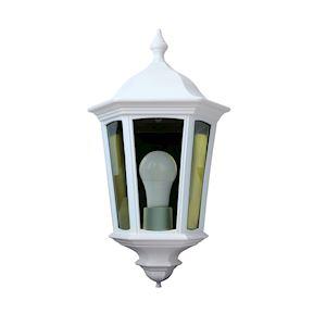 LIZZIO - Applique Mur Ext. IP44 IK08, blanc, E27 100W max., lampe non incl.